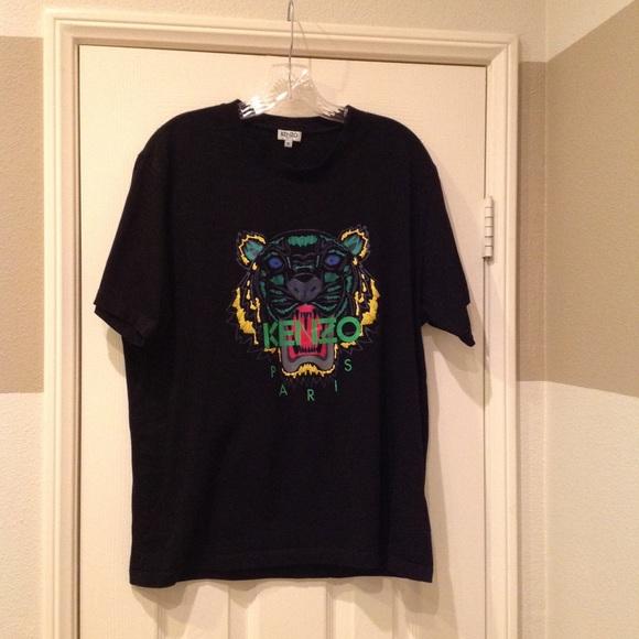 c055a95920de Kenzo Shirts   Mens Black Cotton Tiger Tshirt Size Xl   Poshmark